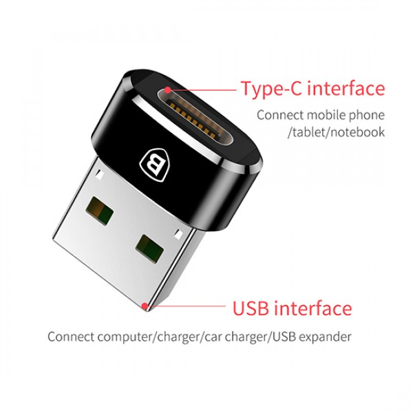 Baseus USB adapter za brzo punjenje USB na Type C ženski 5A (CAAOTG-01) TT-BASEUS-CAAOTG-01 Mobilab, servis i prodaja mobitela, tableta i računala