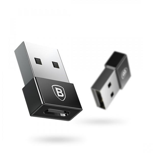 Baseus USB adapter za brzo punjenje USB na Type C ženski 2,4A (CATJQ-A01)