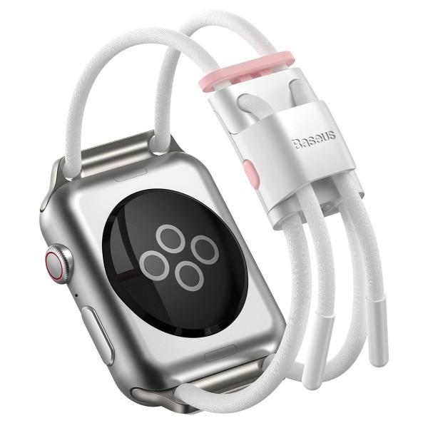 Baseus Let`s Go sportski remen za Apple Watch 3/4/5/6 / SE 38 / 40mm - bijelo/rozi (LBAPWA4-A24)