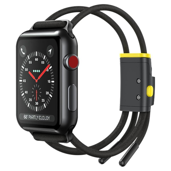 Baseus Let`s Go sportski remen za Apple Watch 3/4/5/6 / SE 38 / 40mm - sivo/žuti (LBAPWA4-AGY)