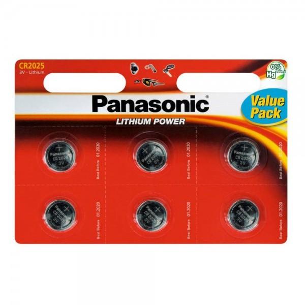 Baterije Panasonic Lithium CR2025 - 6 kom