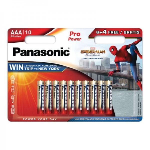 Baterije Panasonic Alkalne LR3 / AAA PRO POWER SPIDER-MAN 6 + 4 FREE - 10 kom