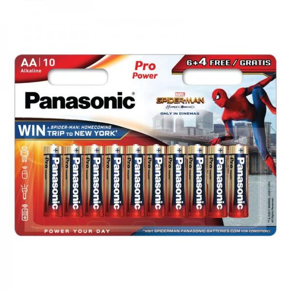Baterije Panasonic Alkalne LR6 / AA PRO POWER SPIDER-MAN 6 + 4 FREE - 10 kom