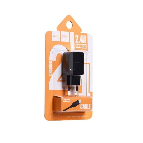 HOCO kućni punjač - 2.4A micro USB kabel C22A