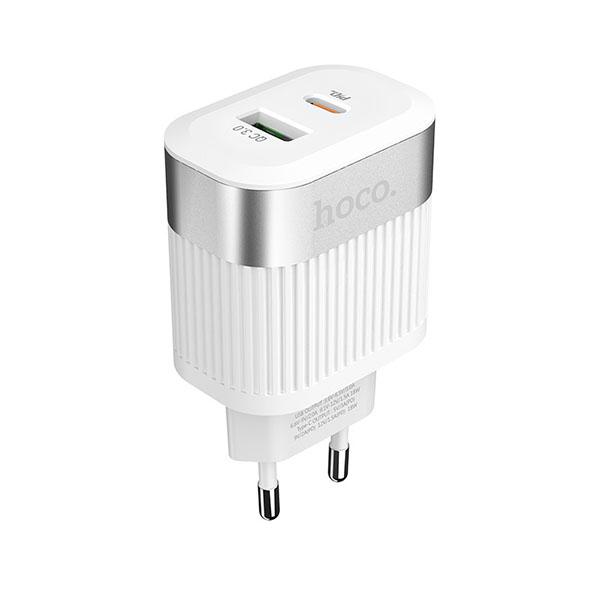 HOCO adapter/punjač - 1xUSB QC 3.0 + 1xUSB Type C PD 2.0 C58A