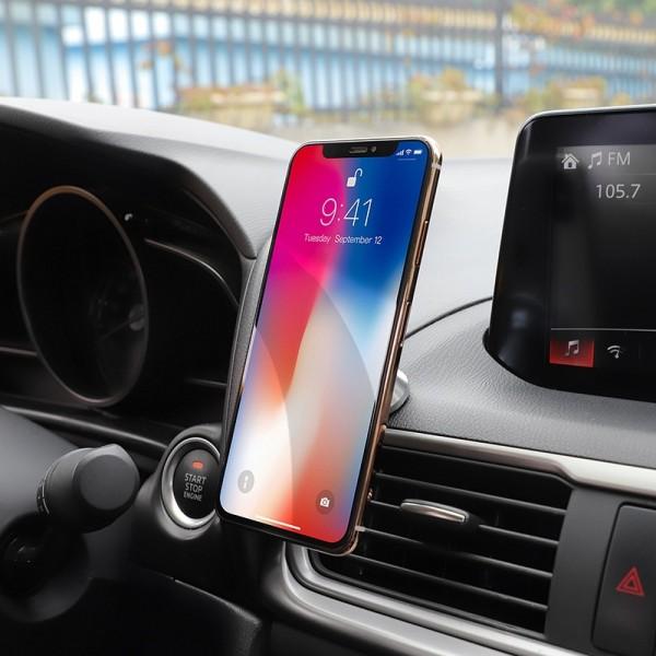 Hoco auto držač mobitela magnetni metalni - CA46 - crni