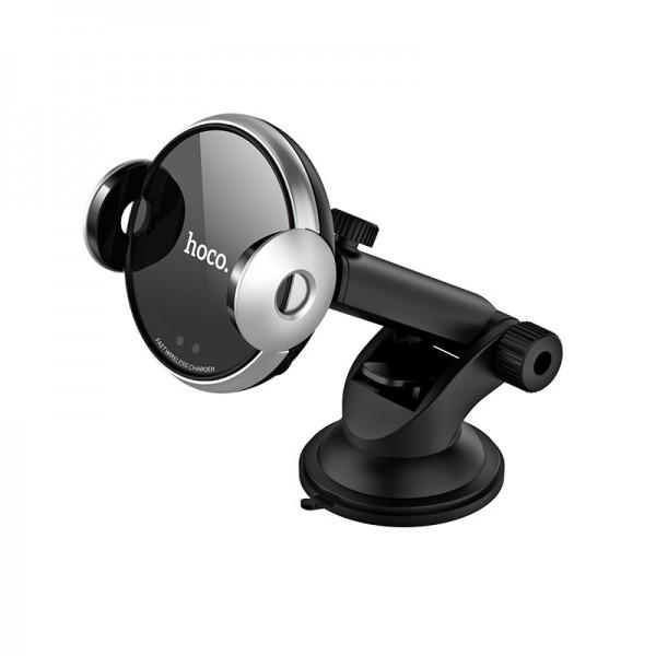 Hoco auto držač mobitela sa automatskim zatvaračem + bežično punjenje - CA48