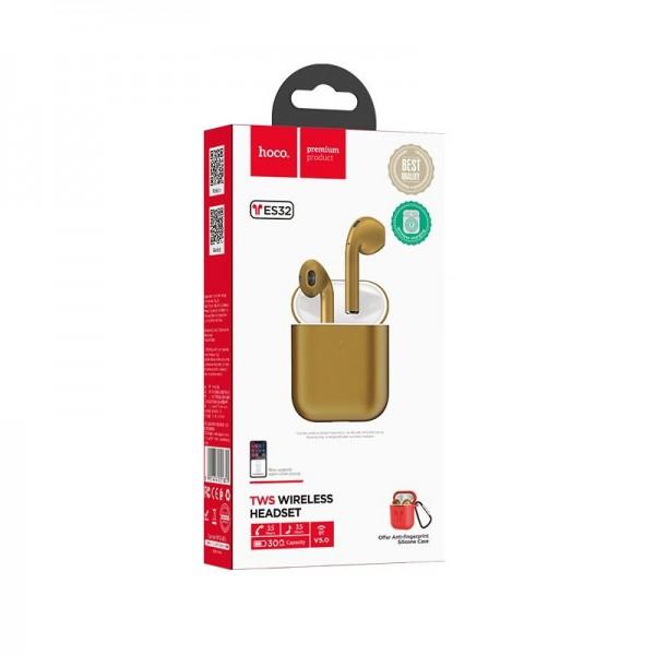 Hoco Bluetooth Slušalice - ES32 Plus Original TWS Gold + red silicone case TT-Hoco-ES32-B Mobilab, servis i prodaja mobitela, tableta i računala