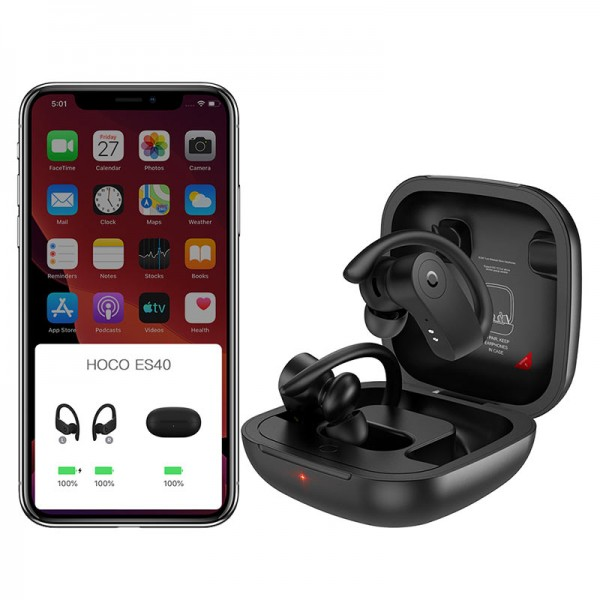 Hoco Bluetooth Slušalice - ES40 Genial TWS - crne TT-Hoco-ES40-black Mobilab, servis i prodaja mobitela, tableta i računala