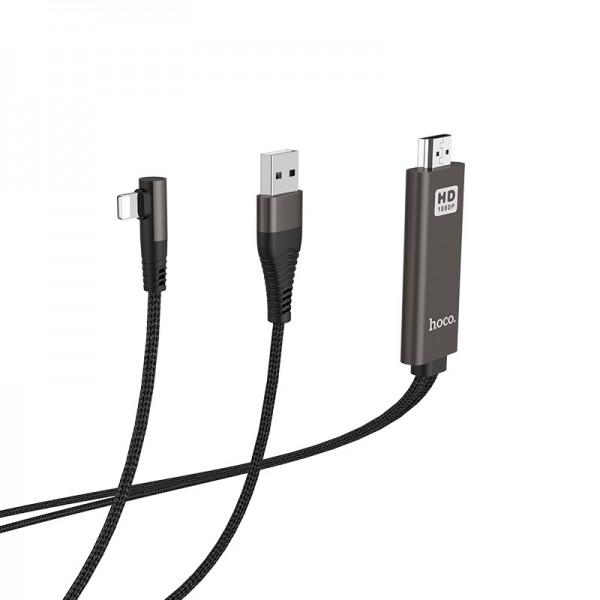 HOCO HDMI Adapter kabel - lightning na HDMI i USB UA14 2m
