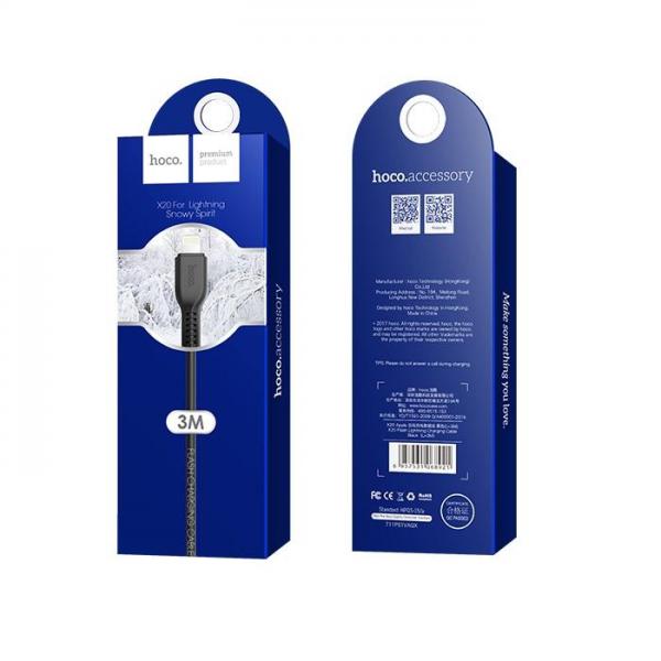HOCO USB kabel - Flash X20 iPhone lightning 3M