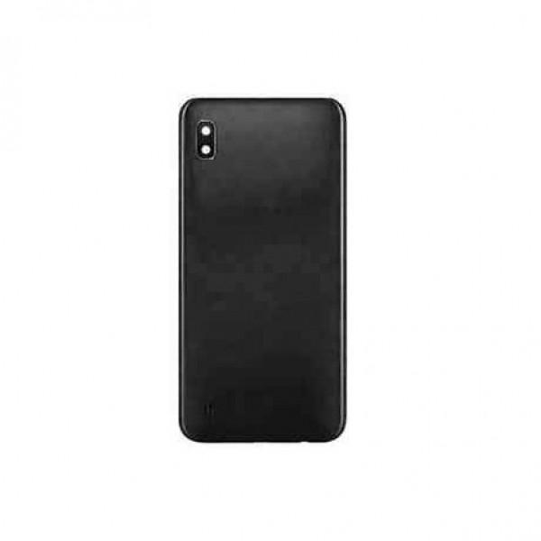 Poklopac baterije Samsung A105,A10 + lens kamere crni zamjenski