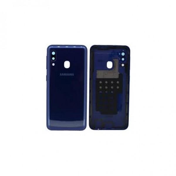 Poklopac baterije Samsung A202,A20E + lens kamere plavi zamjenski