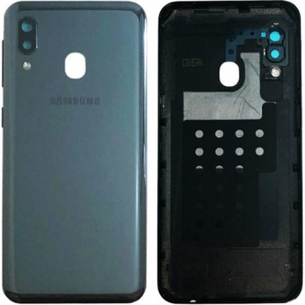 Poklopac baterije Samsung A202,A20e + lens kamere crni original GH82-20125A