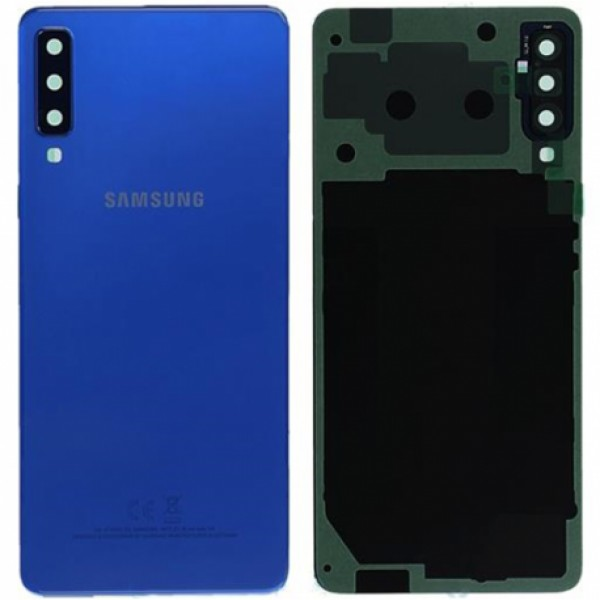 Poklopac baterije Samsung A7 2018,A750 + lens kamere plavi zamjenski
