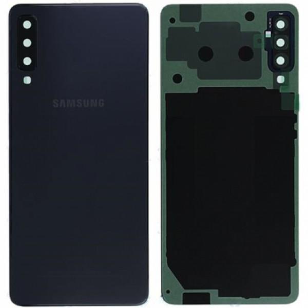 Poklopac baterije Samsung A7 2018,A750 + lens kamere crni zamjenski