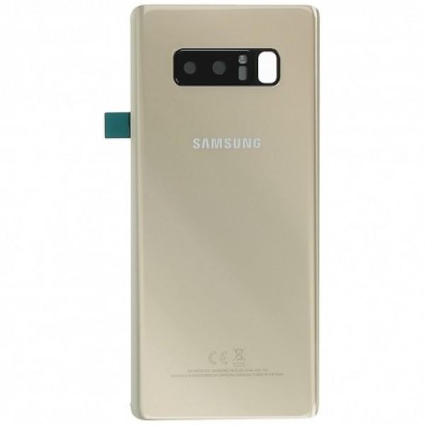 Poklopac baterije Samsung NOTE 8 / N950 + lens kamere zlatni ORIGINAL