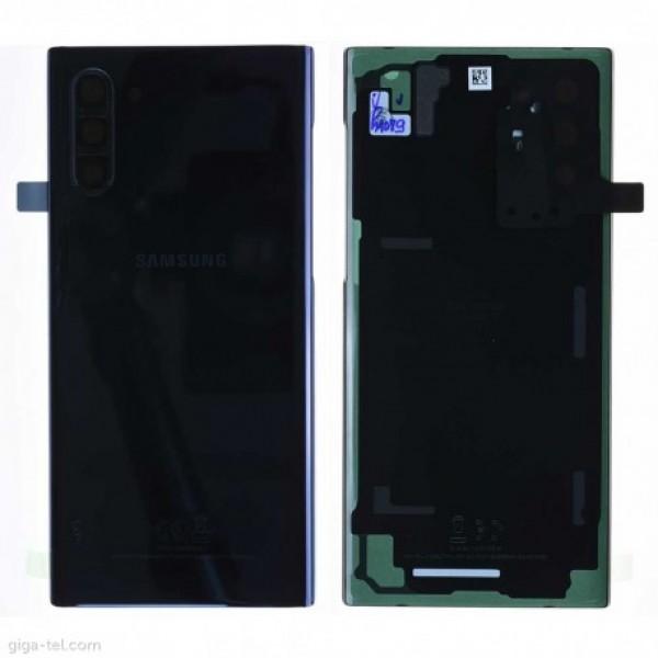 Poklopac baterije Samsung NOTE 10 / N970 + lens kamere crni (Aura Black) 1.klasa