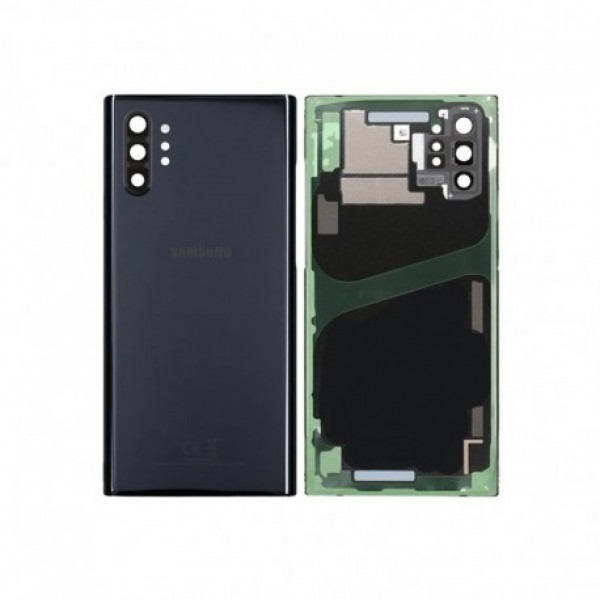 Poklopac baterije Samsung NOTE 10 PLUS / N975 + lens kamere crni (Aura Black) 1.klasa