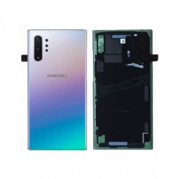 Poklopac baterije Samsung NOTE 10 PLUS / N975 + lens kamere srebrni (Aura Glow) 1.klasa