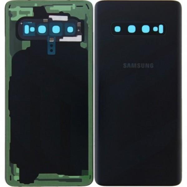 Poklopac baterije Samsung S10 G973 + lens kamere crni (Prism Black) 1. klasa