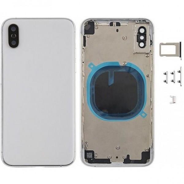 Stražnje kućište iPhone XS Bijelo/Srebrno