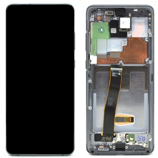 LCD Samsung S20 ULTRA/S20 ULTRA 5G/G988 + touch + okvir crni (Cosmic Black) original EU