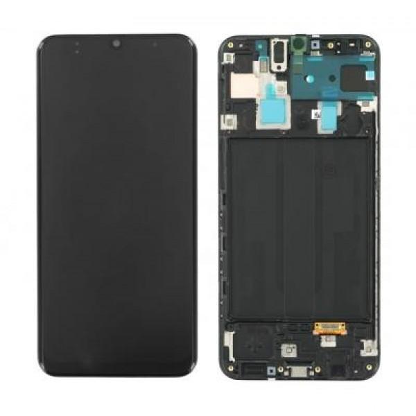 LCD Samsung A30,A305 + touch + okvir crni original EU GH82-19725A