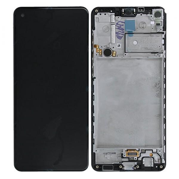 LCD Samsung A217,A21S (2020) + touch + okvir crni original EU GH82-22988A