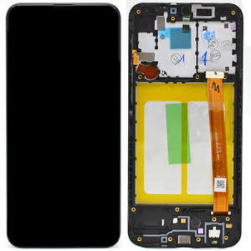 LCD Samsung A20e A202 + touch + okvir crni original EU
