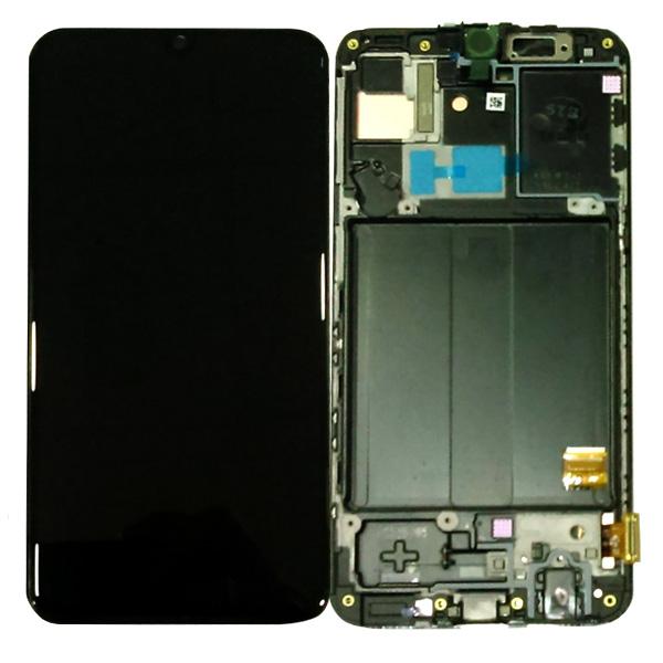 LCD Samsung A40,A405 + touch + okvir crni original EU
