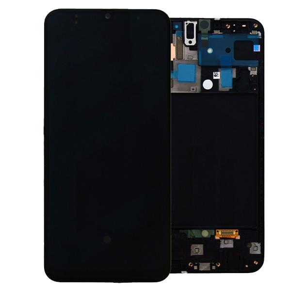 LCD Samsung A50,A505F + touch + okvir ORIGINAL EU