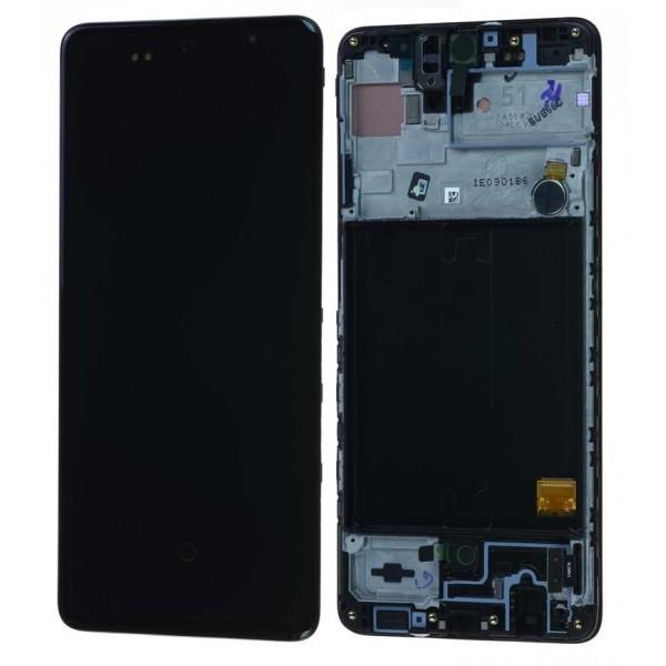 LCD Samsung A51,A515F + touch + okvir ORIGINAL EU