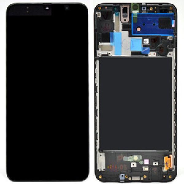 LCD Samsung A70,A705F + touch + okvir ORIGINAL EU