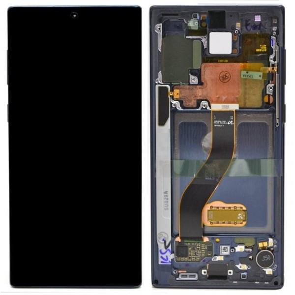 LCD Samsung NOTE 10,N970 + touch + okvir original EU crni (Aura Black)