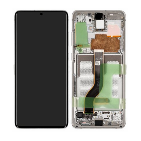 LCD Samsung S20 PLUS/G985,S20 PLUS 5G/G986 + touch + okvir bijeli (Cloud White) original EU