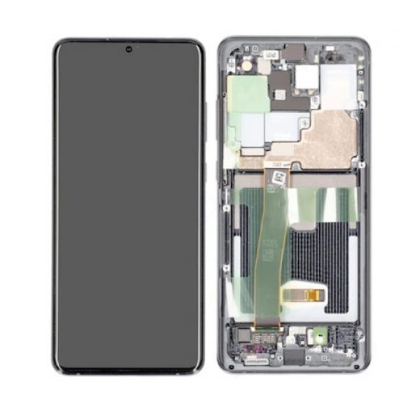 LCD Samsung S20 PLUS/G985,S20 PLUS 5G/G986 + touch + okvir sivi (Cosmic Grey) original EU