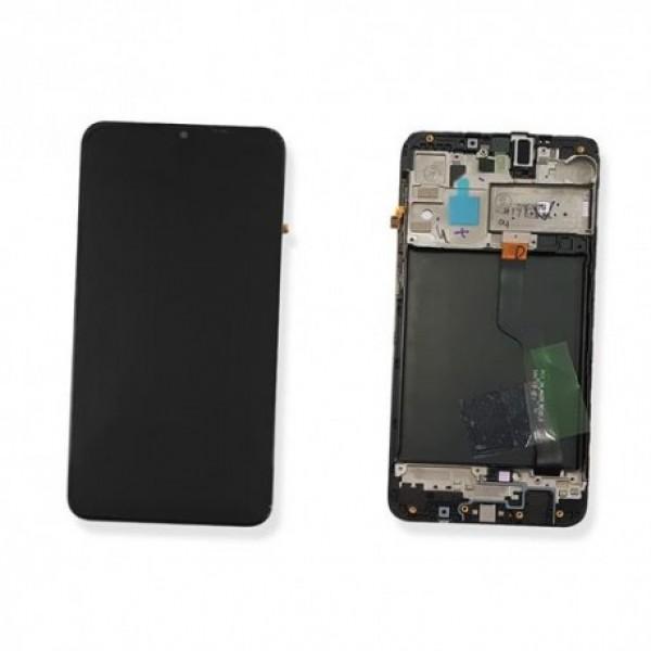 LCD Samsung A10,A105 + touch + okvir crni original EU