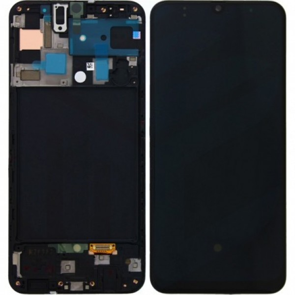 LCD Samsung A30S,A307 + touch + okvir crni original EU GH82-21190A