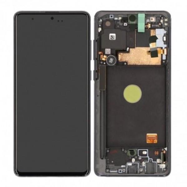 LCD Samsung NOTE 10 LITE,N770 + touch + okvir original EU crni (Aura Black)