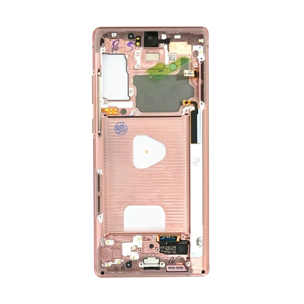 LCD Samsung NOTE 20,N980 / N981 + touch + okvir original EU zlatni (Mystic Bronze)