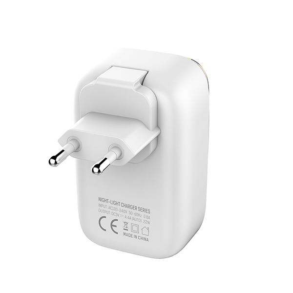 Ldnio kućni punjač/adapter A4405 4xUSB 4,4A s LED svjetiljkom osjetljivom na dodir + USB kabel Type C TT-KP-LDN-A4405-TYPE-C Mobilab, servis i prodaja mobitela, tableta i računala