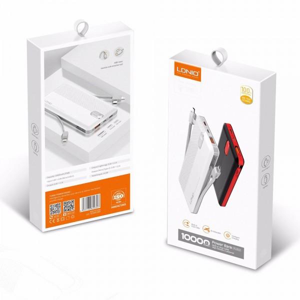 Ldnio Power Bank> PL1013 1xUSB 10000mAh + 3 u 1 Micro USB cable, USB Type C, Lightning kabel TT-PB-LDN-PL1013 Mobilab, servis i prodaja mobitela, tableta i računala