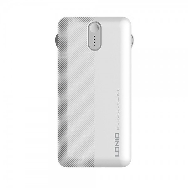 Ldnio Power Bank> PL1013 1xUSB 10000mAh + 3 u 1 Micro USB cable, USB Type C, Lightning kabel