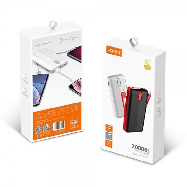 Ldnio Power Bank> PL2014 1xUSB 20000mAh + 3 u 1 Micro USB cable, USB Type C, Lightning kabel TT-PB-LDN-PL2014 Mobilab, servis i prodaja mobitela, tableta i računala