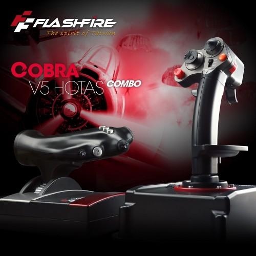 JOYSTICK FLASHFIRE COBRA V5 HOTAS COMBO ZA PC PLAY SIMULATION