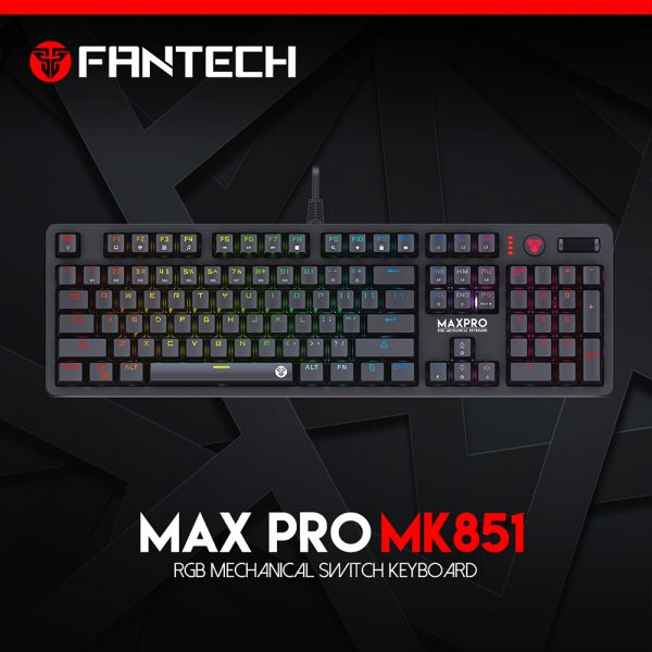 FANTECH TIPKOVNICA GAMING ŽIČNA MEHANIČKA MAX PRO MK851RGB CRNA
