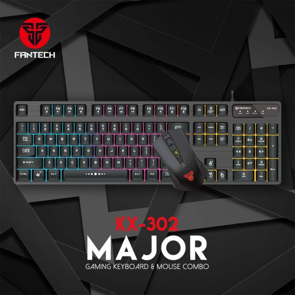 FANTECH SET ŽIČNI MIŠ I TIPKOVNICA GAMING MAJOR KX-302S