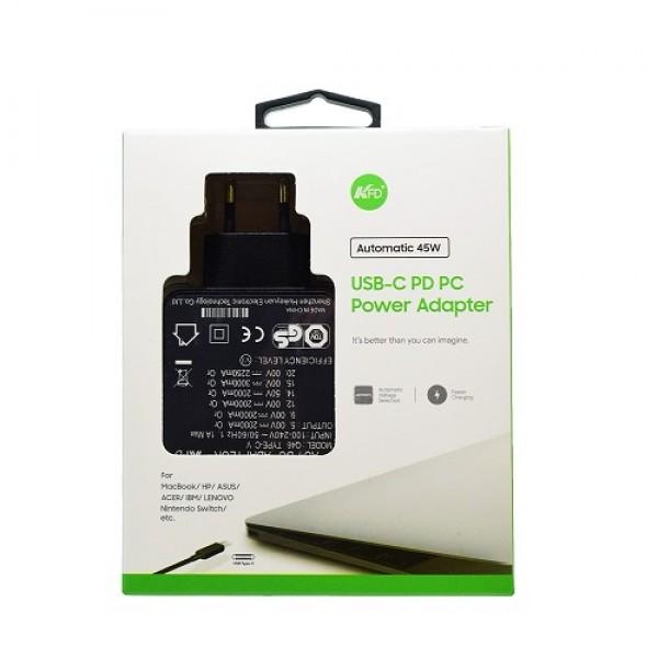 Kućni punjač za prijenosno računalo Q46 (PD TIP C 20V/2.25A/45W)