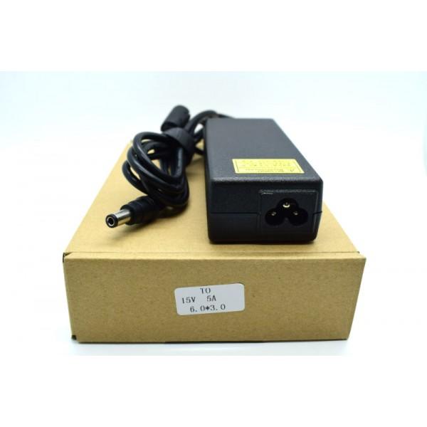 Kućni punjač za prijenosno računalo 6.0*3.0 (ZA TOSHIBU 15V/5A/75W )